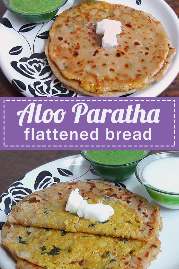 aloo paratha recipe - indian flattened bread stuffed with potatoes